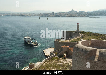 France, Marseille, Chateau d'If, island fortifications - Stock Photo