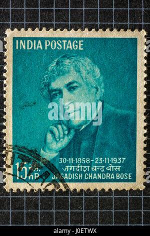 Jagadish chandra bose, postage stamps, india, asia - Stock Photo