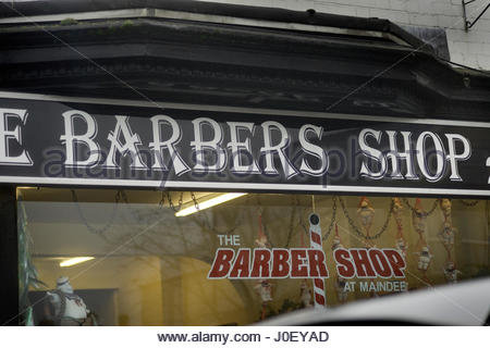 Newport area Wales UK Shop Barber Europe, UK, England, London, View Of - Stock Photo