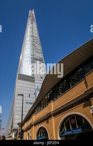 The Shard and London Bridge Station, London, England - Stock Photo