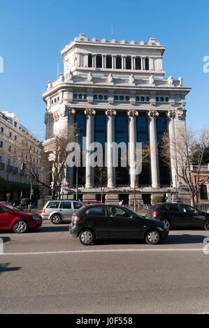 Facade of Cervantes Institute Madrid, Spain - Stock Photo
