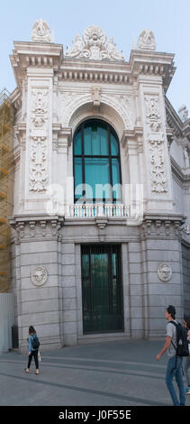 Banco de Espana, Bank of Spain in Madrid, Spain - Stock Photo