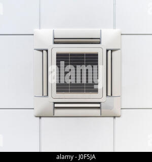 Modern Air Conditioner Or Air Vent On Ceiling With