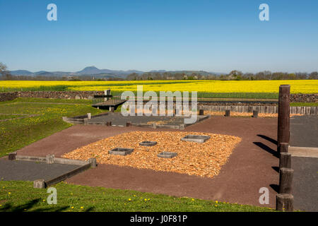 Gaul oppidum of Corent, archeological site, Puy de Dome, France, Europe