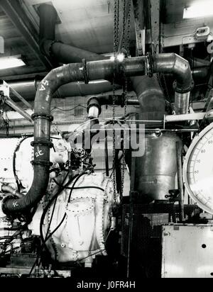 Deltic D18-62 engine, water washing unit at number 3 test house DTH - Stock Photo