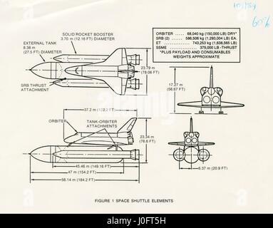 Space Shuttle Diagram Stock Photo 169362534 Alamy
