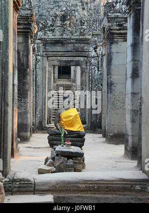 Temples at Angkor Thom, Siem Reap, Cambodia - Stock Photo