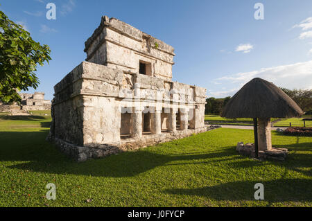 Mexico, Yucatan, Quintana Roo, Tulum Mayan site, Temple of the Paintings - Stock Photo