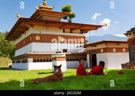 Chimi Lhakhang Monastery, Pana, Bhutan - Stock Photo