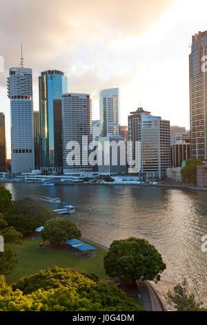 City centre & central business district. Brisbane, Queensland, Australia - Stock Photo
