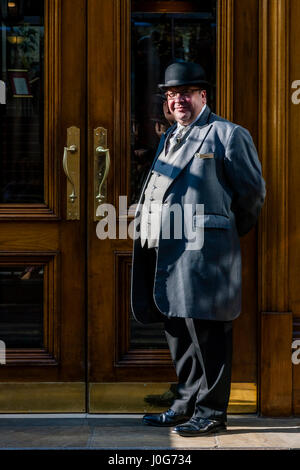 The Hotel Doorman At The Landmark London, Marylebone Road, London, England - Stock Photo