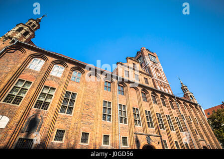 Old Town Hall in Torun is one of the finest examples of medieval architecture in central Europe - Stock Photo