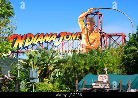 Indiana Jones Epic Stunt Spectacular, Hollywood Studios, Disney World, Orlando Florida - Stock Photo