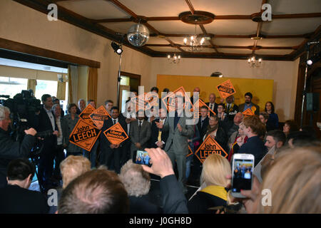 Rt Hon Nick Clegg MP - Deputy Prime Minister & Leader of the Liberal Democrats supports John Leech's re-election - Stock Photo