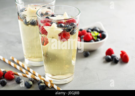 Red, blue and white sangria - Stock Photo