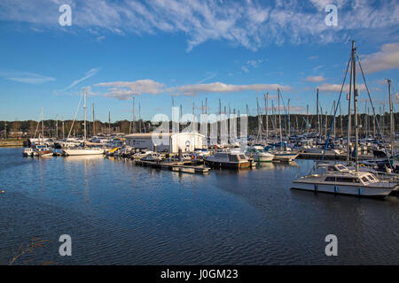 Chatham Maritime Marina on the River Medway in Kent, England. - Stock Photo