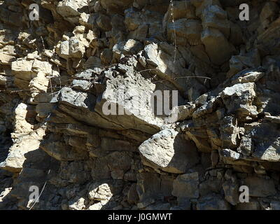 cracked rock natural background, Stone texture closeup background, - Stock Photo