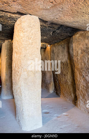 Menga Dolmen. Antequera, Málaga province, Andalusia, Spain - Stock Photo