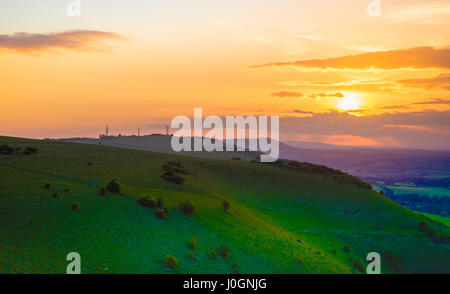 The South Downs countryside at Devil's Dyke near Brighton in East Sussex, England - Stock Photo