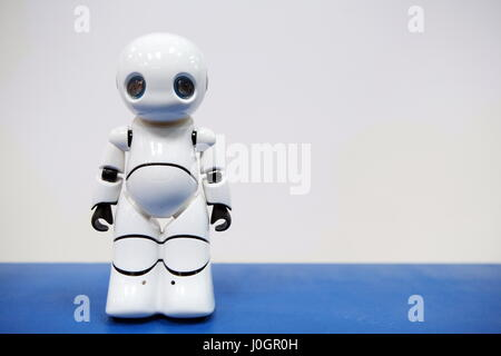Hanover, Germany. 21th March, 2017. Intelligent humanoid robot by 'Tanscorp' (Shenzhen Tanscorp Technology Co., - Stock Photo
