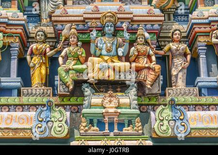 Sri Kailasanathar Swami Devasthanam or captains garden temple is the oldest hindu temple of Colombo the capital - Stock Photo