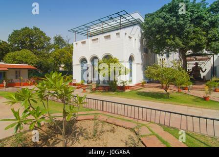The Gandhi Smriti museum dedicated to Mahatma Gandhi, situated on Tees January Road in New Delhi, India - Stock Photo