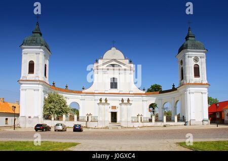 Baroque Church of the Holy Trinity in Tykocin Town, Poland. - Stock Photo