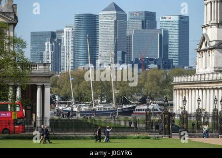 London: 12th  April 2017. Rendez-Vous 2017 Tall Ships Regatta hosted at Greenwich and Woolwich from 13th - 16th - Stock Photo
