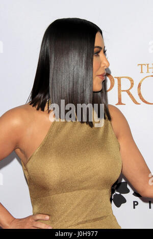 April 12, 2017 - Los Angeles, CA, USA - LOS ANGELES - APR 12:  Kim Kardashian at the ''The Promise'' Premiere at - Stock Photo