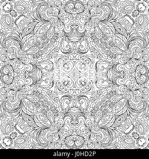 Square Coloring Book Page For Adults