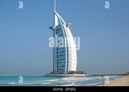 Burj Al Arab in Dubai, United Arab emirates - Stock Photo