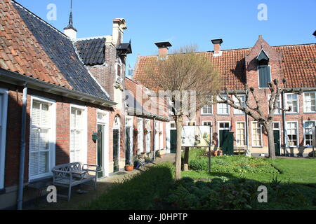 Sint Anthonygasthuis (Saint Antony's Hofje = courtyard with Almshouses), inner city of Groningen, Netherlands. Founded - Stock Photo