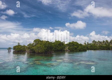 Weno, Micronesia. 19th Feb, 2016. The Truk Lagoon and beaches. Credit: Alessandro Bosio/Pacific Press/Alamy Live - Stock Photo