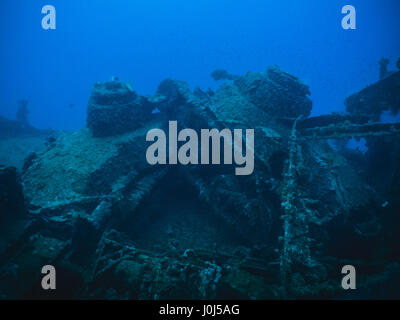 Weno, Micronesia. 14th Feb, 2016. Scuba diving pictures of corals, halcyons and fishes over the 'Operation Hailstone' - Stock Photo