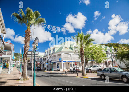 A main street in Pointe-a-Pitre Guadeloupe - Stock Photo