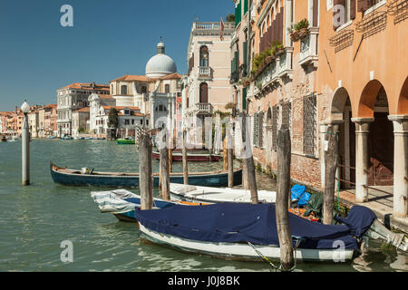 Spring afternooon on Grand Canal, sestiere of Cannaregio, Venice, Italy. - Stock Photo