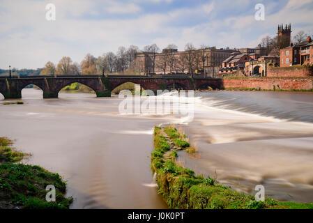 The Grosvenor Bridge crossing the river Dee in Chester. Picture credit: Brian Hickey/Alamy - Stock Photo