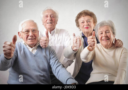 Group of old people supporting you - Stock Photo