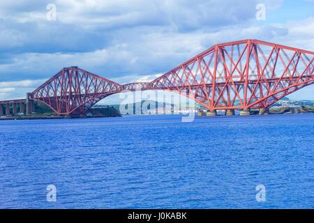 Forth Bridge, Queensferry near Edinburgh, Scotland - Stock Photo