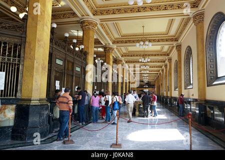 Historic Main Post Office in Mexico City, Mexico. The Palacio de Correos de Mexico or the (Correo Mayor) - Stock Photo