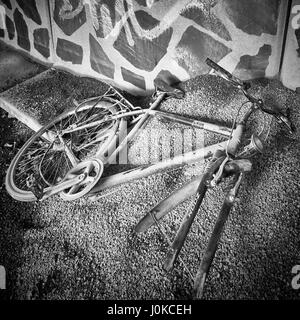 Abandoned bicycle - Stock Photo