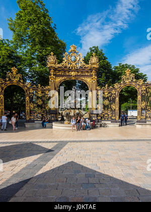 Amphitrite Fountain at Place Stanislas, Nancy, Meurthe-et-Moselle, Lorraine, France Stock Photo