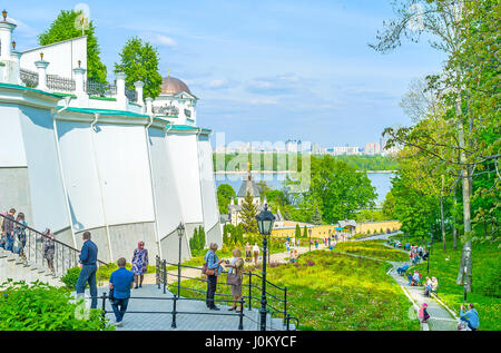 KIEV, UKRAINE - MAY 2, 2016: Kiev Pechersk Lavra is a must see place for all guests of the city, on May 2, in Kiev - Stock Photo