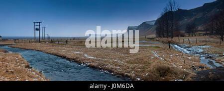 'Anywhere in Iceland': Icelandic winter nature landscape - Stock Photo