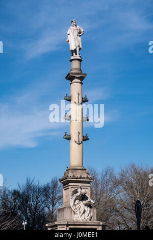 Christopher Columbus Monument, Columbus Circle, NYC - Stock Photo