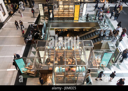 Time Warner Center Atrium Interior , NYC - Stock Photo