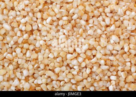 Barley groats close up. Full frame shoot. - Stock Photo