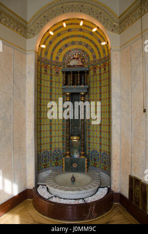 Municipal House in Prague is the city's foremost Art Nouveau building, and one of the finest in Europe. - Stock Photo