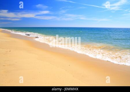 Sandy beach in Algarve region, Portugal - Stock Photo