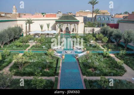 Marrakesh Secret garden Islamic garden layout - Stock Photo